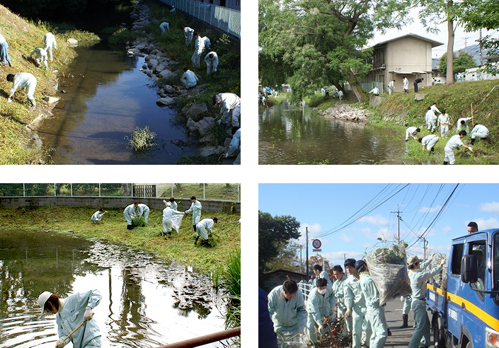 All Nakashima Group employees participate in volunteer clean-up activities twice a year.
